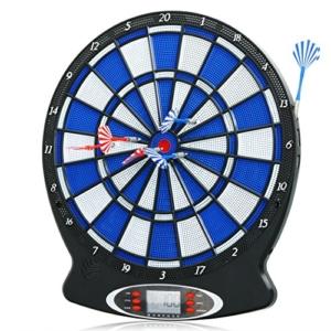 Ancheer Elektronische Dartscheibe, elektronisches Dartboard, Darts, Dartsport, inkl. 6 Dartpfeilen -